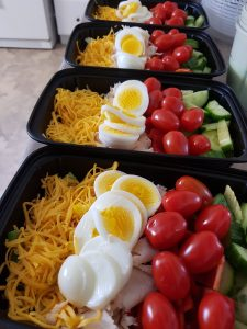 chef salad meal prep containers
