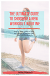 How to choose a new workout routine pinterest image girl stretching leg