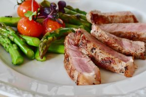 pork loin plate with veggies