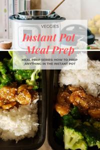 Instant pot meal prep for vegetables
