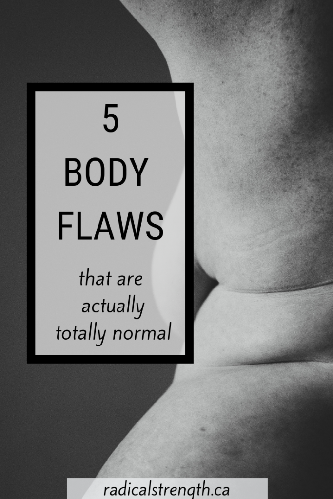 body image flaws pin