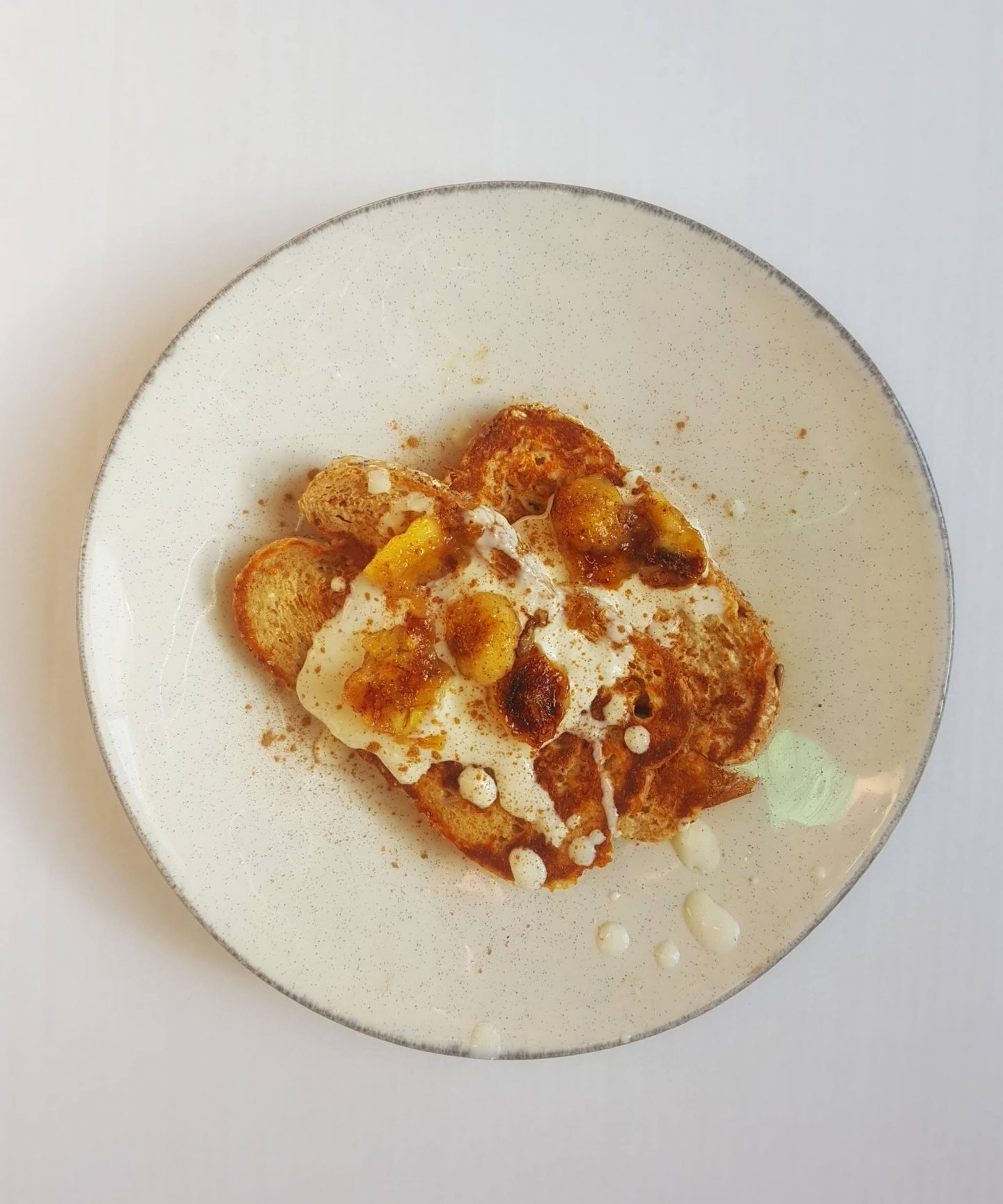 Protein French Toast with Caramelized Bananas, Cinnamon & Ginger