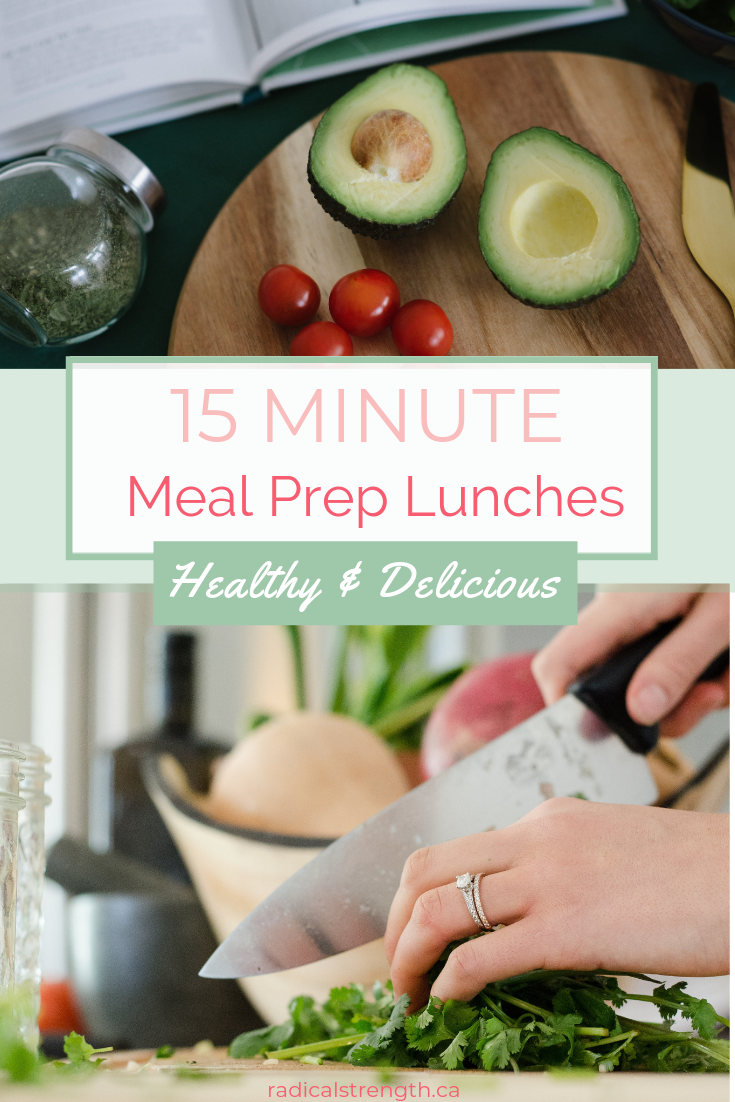 Simple Meal Prep in a hurry! Simple and quick meal prep done in 10 minutes or less for lunch or snacks.