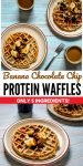 banana chocolate chip protein waffles