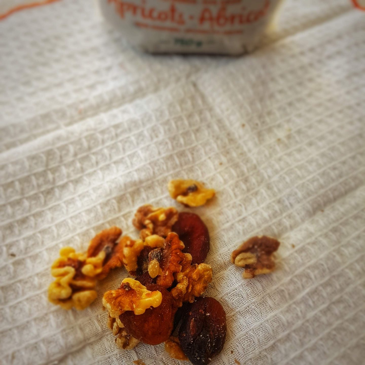 what I ate Wednesday snack walnuts apricots