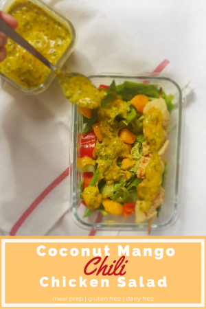 Coconut Mango Chili Chicken Salad Meal Prep