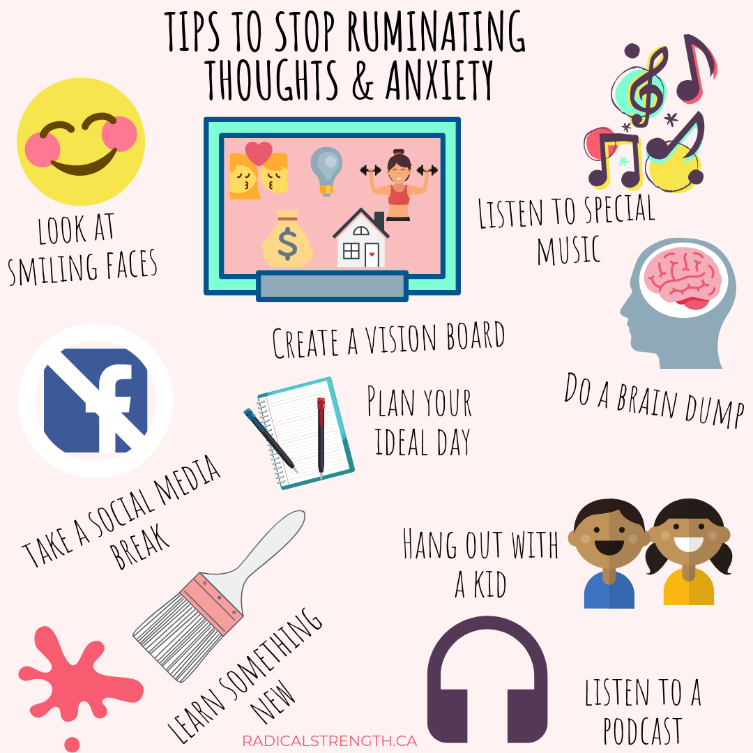 tips to stop ruminating and anxiety