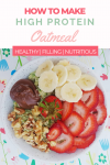 pinterest image for how to make high protein oatmeal
