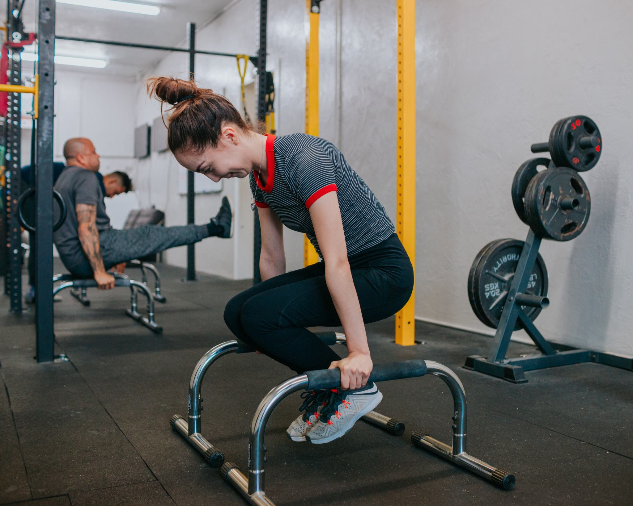 using core strength for static hold