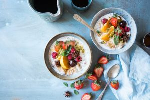 high protein oatmeal with fruits