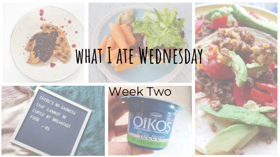 What I Ate Wednesday: Week Two