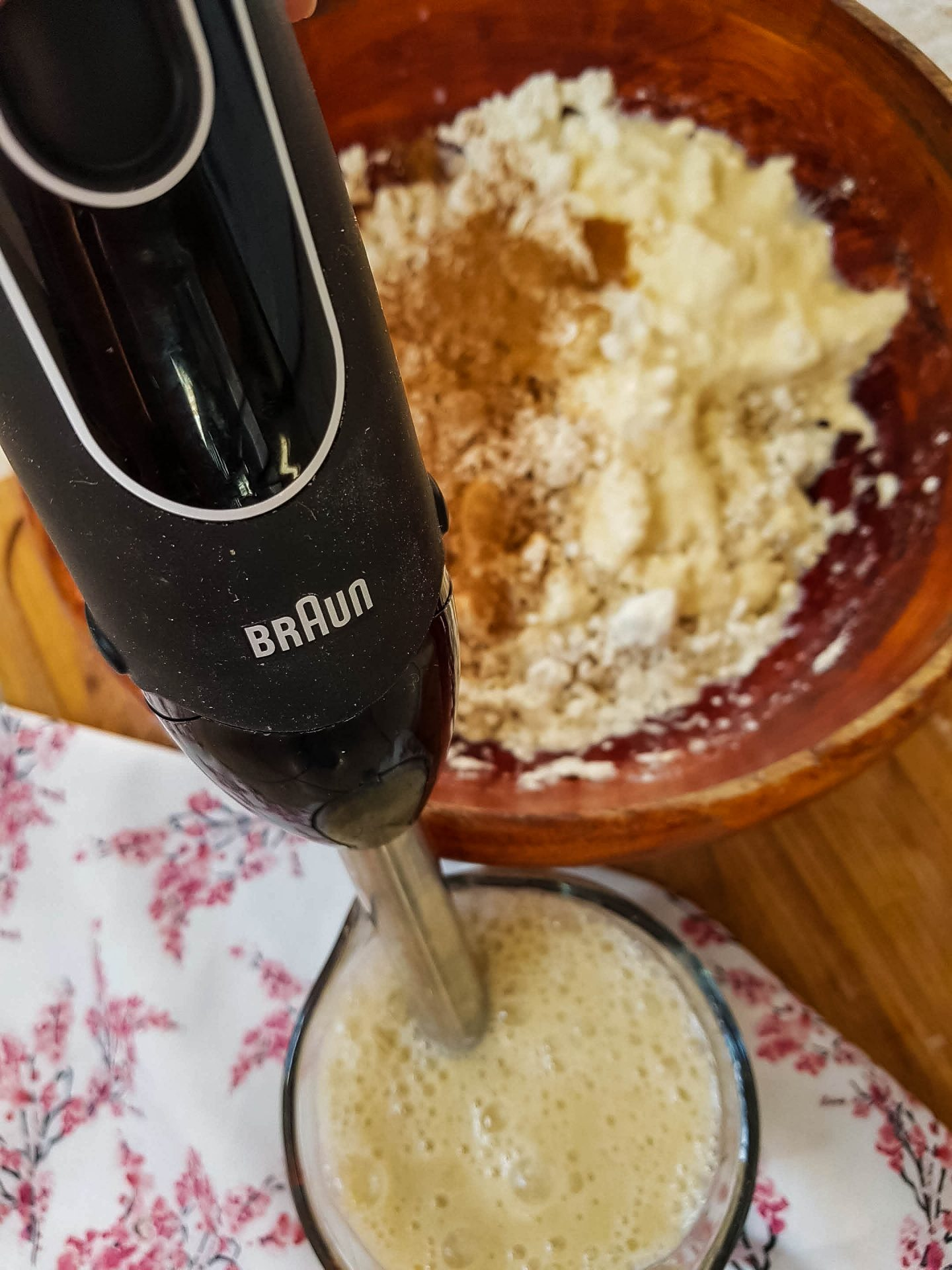 immersion blender to make oatmeal bake