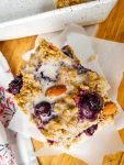 cherry almond baked protein oatmeal squares