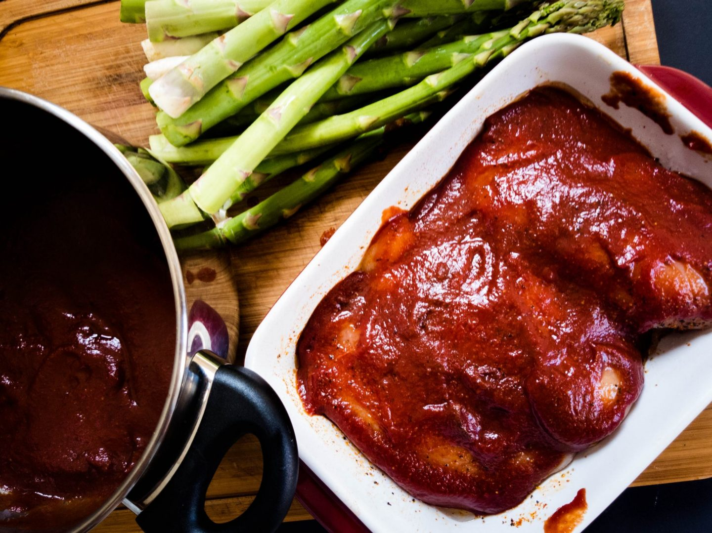 basted maple bourbon bbq chicken