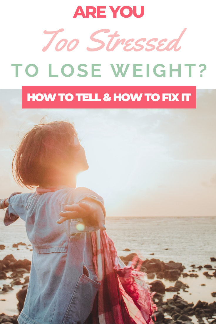 too stressed to lose weight pin image