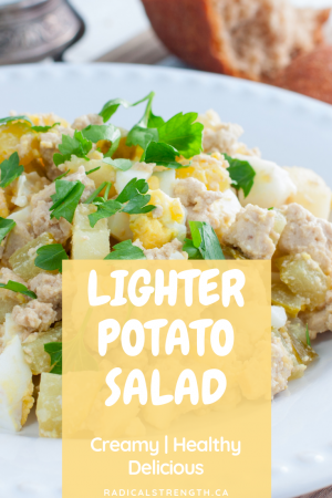 lighter potato salad pin