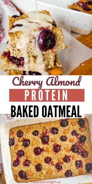 cherry almond baked protein oatmeal recipe