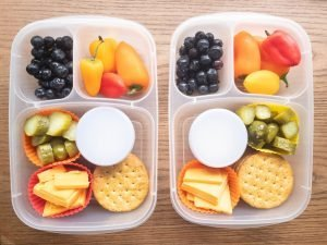kids bento lunchbox with silicone liners