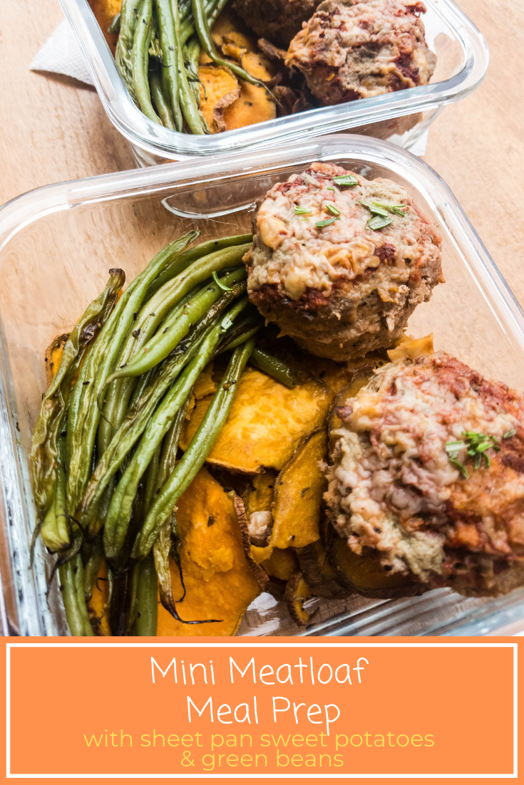mini meatloaf meal prep pin