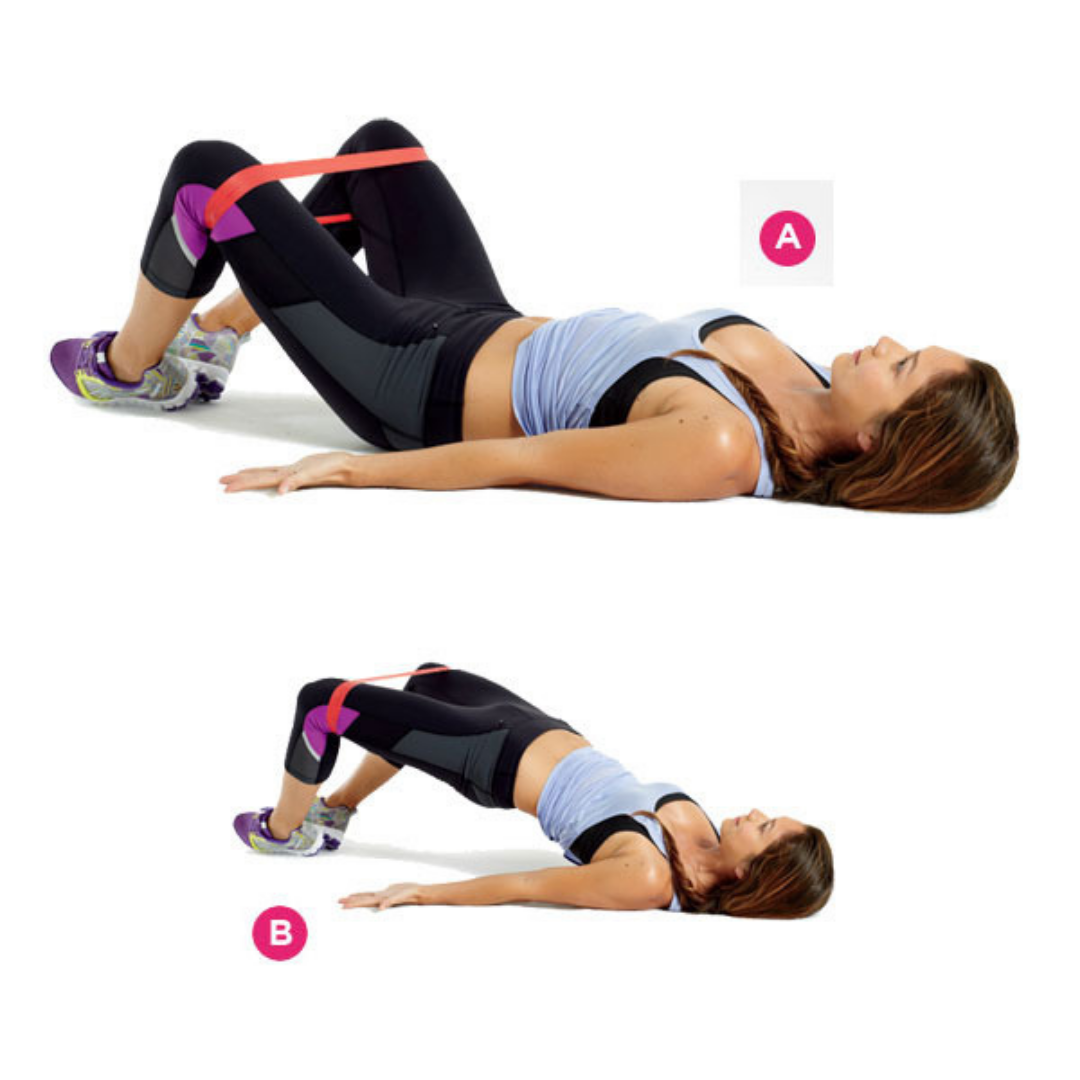 glute bridge for pyramid workout
