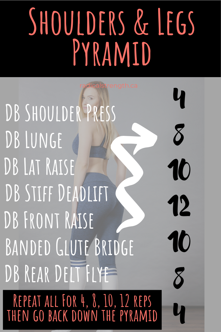 shoulders and legs pyramid workout