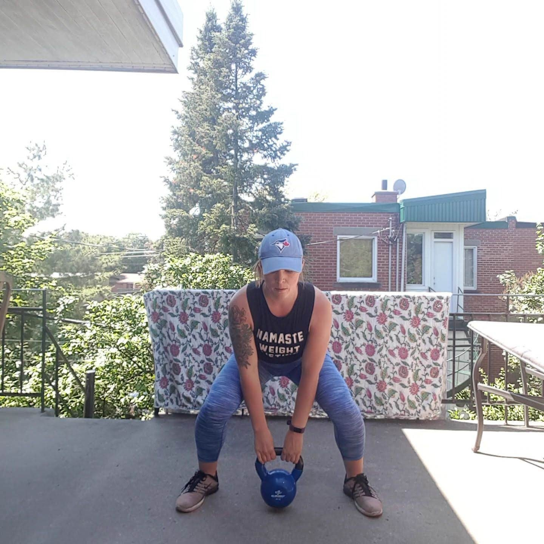 kettlebell squat clean bottom