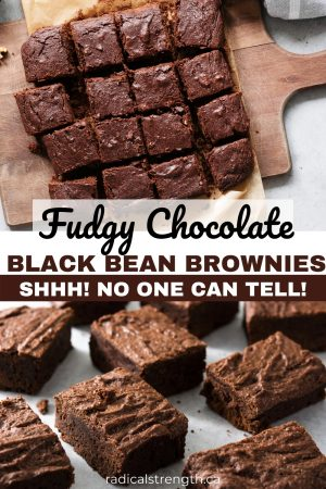 fudgy chocolate black bean brownies