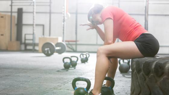 kettlebell workout sweat