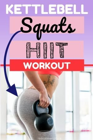 kettlebell squats swings hiit workout