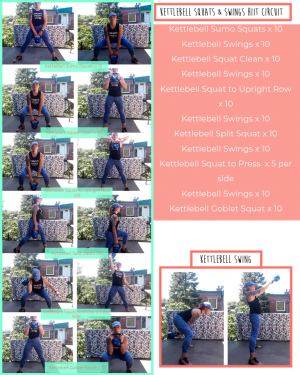 kettlebell squats and swings workout sheet