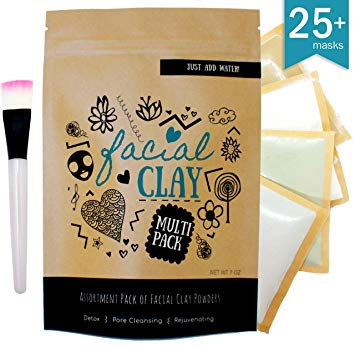 multi pack clay for diy face mask for acne