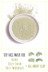 diy face mask for acne and oily skin pinterest image