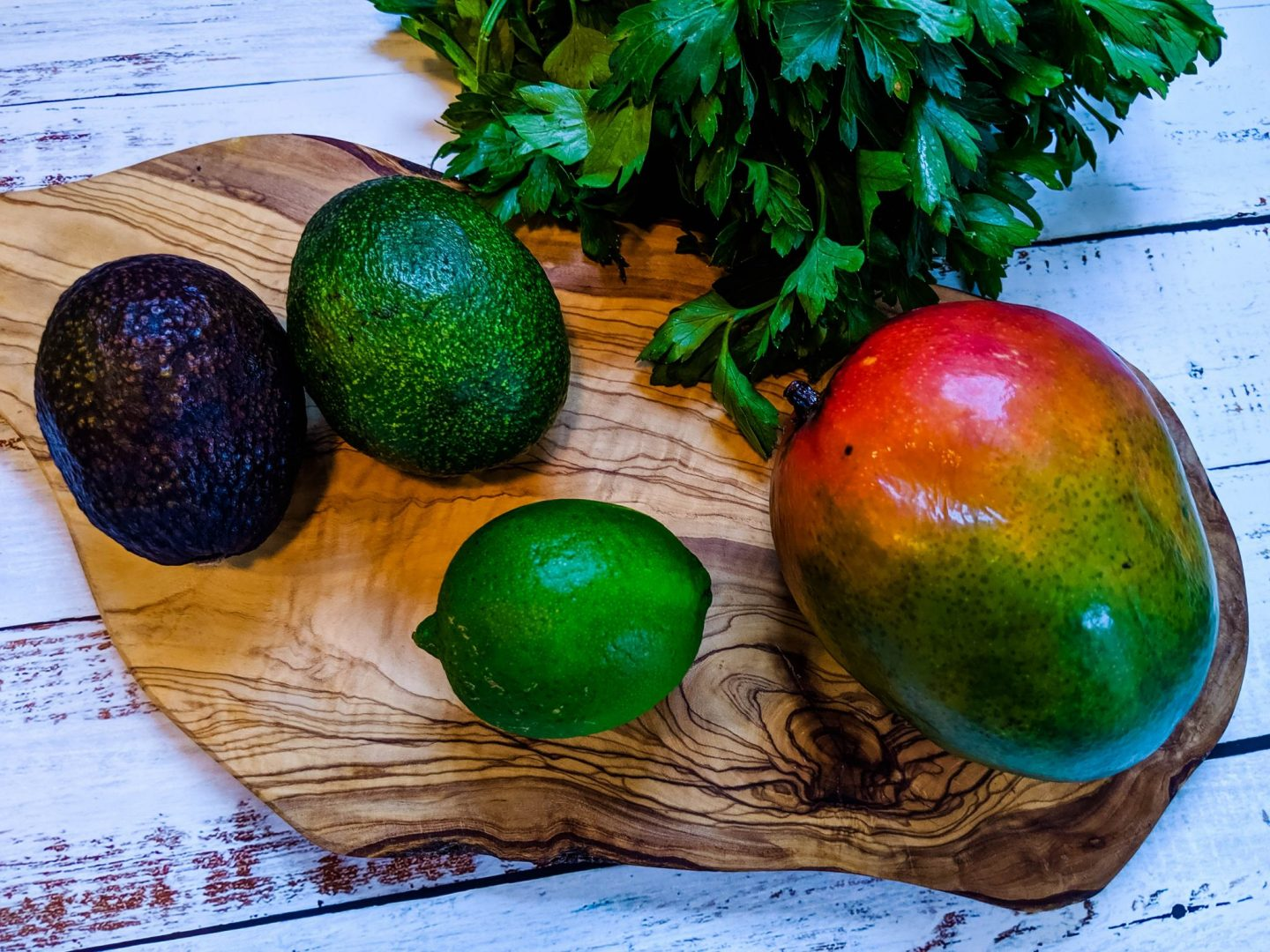 Mango. lime, cilantro, avocado