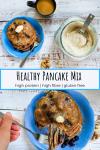 blueberry walnut protein pancakes