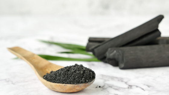 charcoal for diy face mask for acne