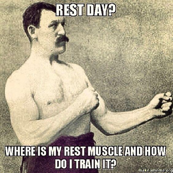 no rest days fitness motivation meme