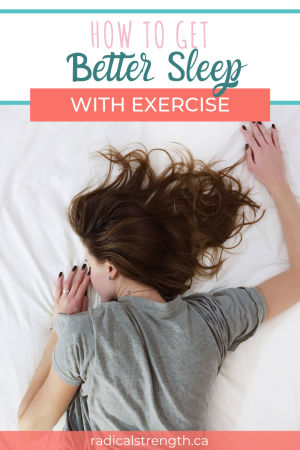 how to get better sleep with exercise pinterest