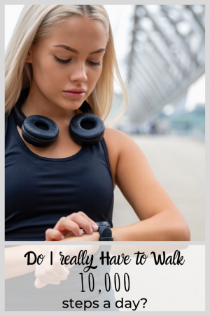 pinterest pin for walking 10,000 steps a day