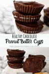healthy chocolate peanut butter cups recipe pin