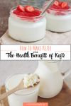 the health benefits of kefir pinterest image