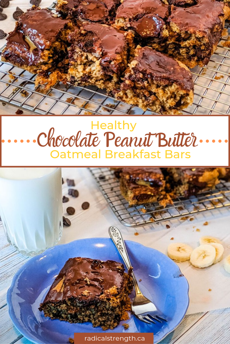 oatmeal with peanut butter chocolate and banana