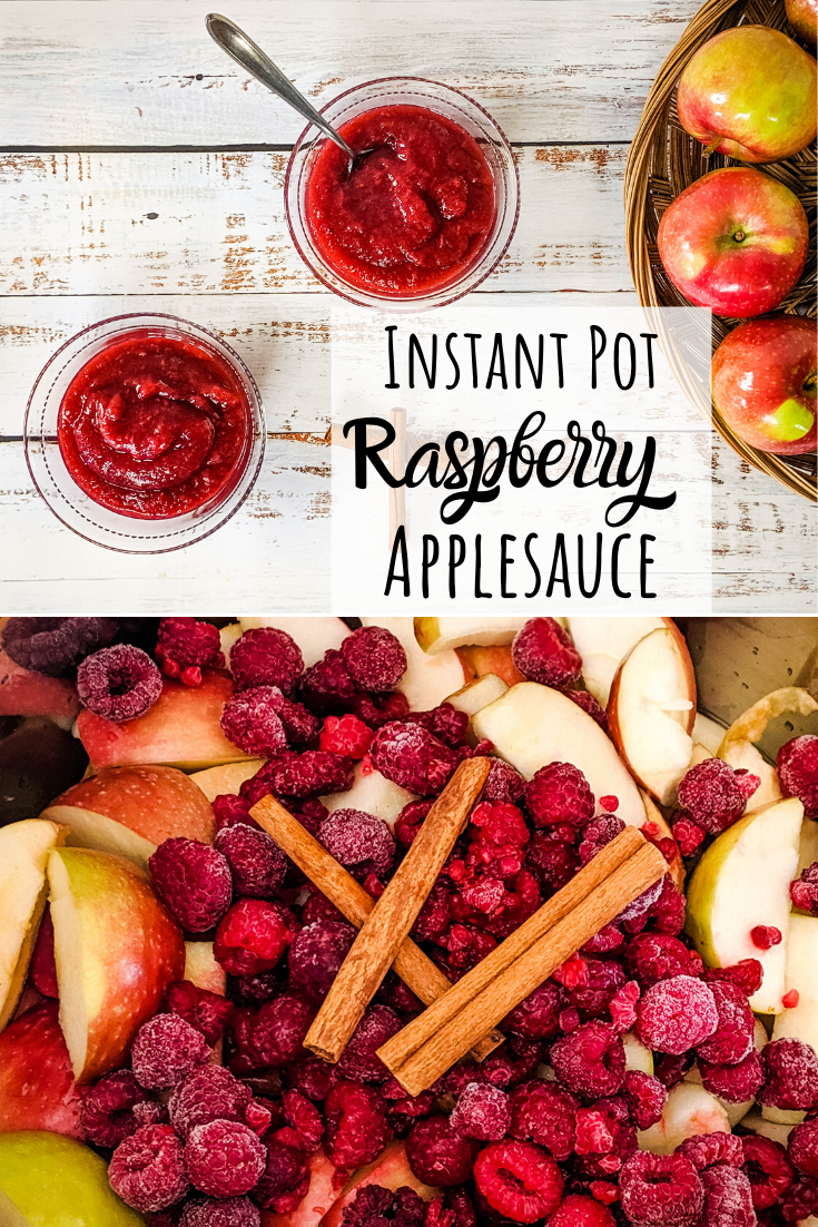 raspberry applesauce recipe pin