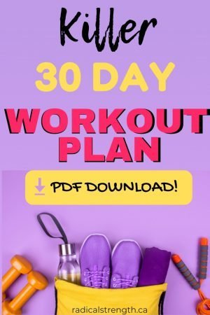30 Day Workout Plan to lose weight for beginners or advanced. Uses dumbbells and body weight to get thick, nice curves and to tone at home or the gym. Progresses every week for the best results. #workoutplan
