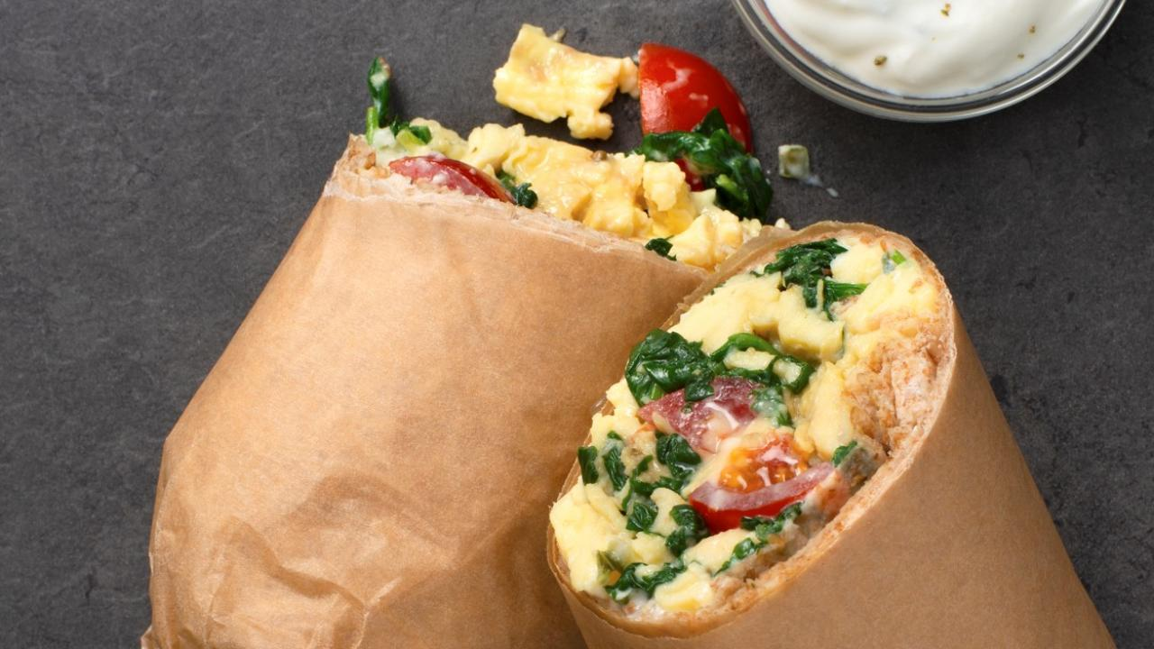 greek burrito wrap meal prep for breakfast high protein