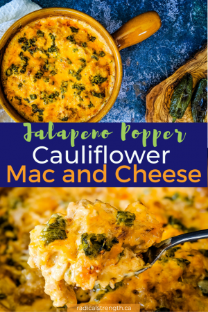baked jalapeno popper cauliflower mac and cheese