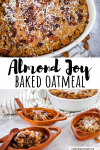 almond joy baked oatmeal recipe pin