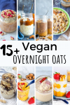 vegan overnight oats roundup pinterest