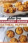 cranberry orange oatmeal muffins gluten free healthy