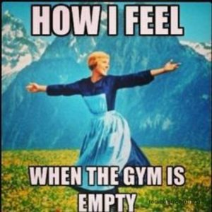 empty gym meme