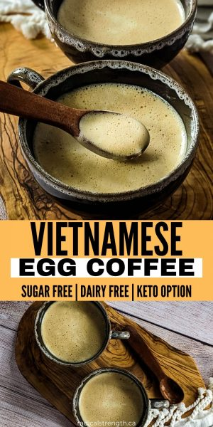 vietnamese egg coffee recipe pin